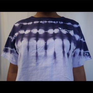 Champion Tops - Tye dye champion crop T-shirt